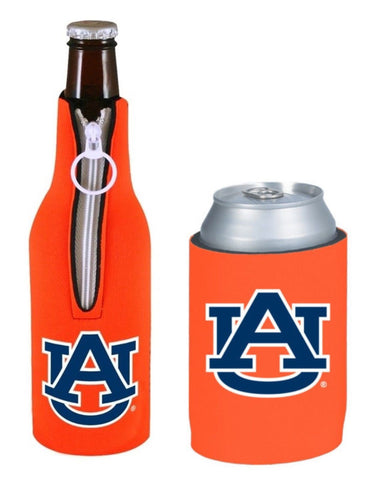 Auburn Tigers NCAA Bottle & Can Beer Soda Drink Holder-2 Pack