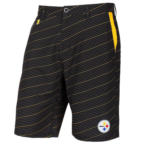 Pittsburgh Steelers Official NFL Dots Walking Shorts with Pockets Button and Zipper