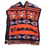 Chicago Bears Official NFL Football Team Logo Unisex Poncho