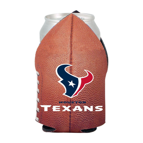 Houston Texans NFL Beer Can Pigskin Holder Neoprene Cooler