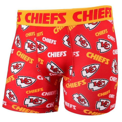 Kansas City Chiefs Official NFL Team Logo Repeat Compression Underwear