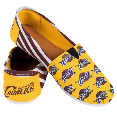 Cleveland Cavaliers Official NBA Stripe Canvas Shoes