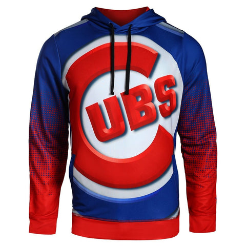 Chicago Cubs MLB Big Logo PolyFleece Hoodie