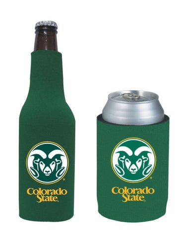 Colorado State Rams NCAA Bottle & Can Beer Soda Drink Holder-2 Pack