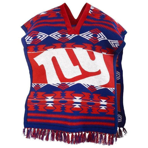 New York Giants Official NFL Football Team Logo Unisex Poncho