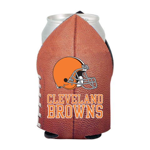 Cleveland Browns NFL Beer Can Pigskin Holder Neoprene Cooler