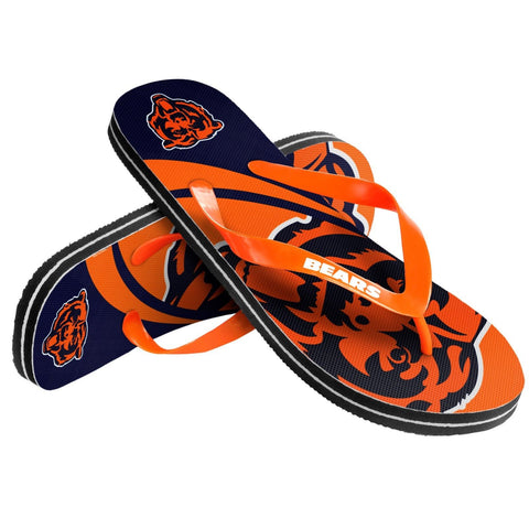 Chicago Bears Official NFL Unisex Thong Flip Flops