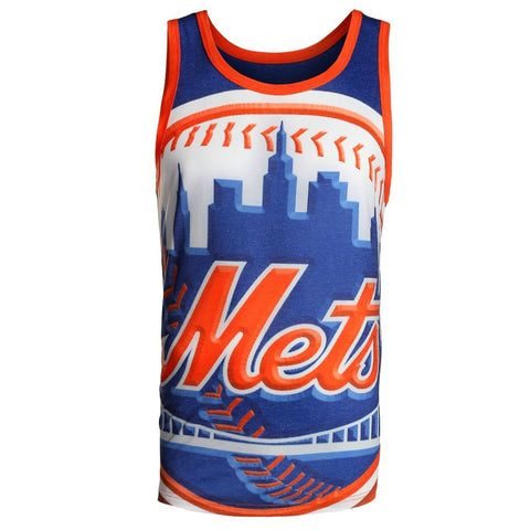 New York Mets Official MLB Big Logo Mens Tank Top