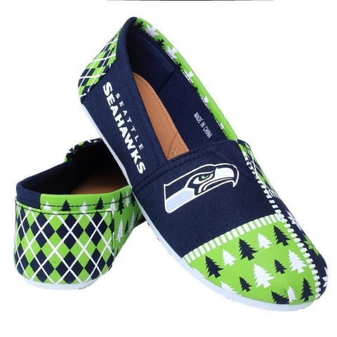 Seattle Seahawks Women's Official NFL Ugly Canvas Shoes