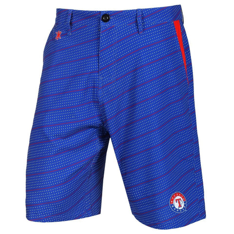Texas Rangers Official MLB Dots Walking Shorts with Pockets Button and Zipper