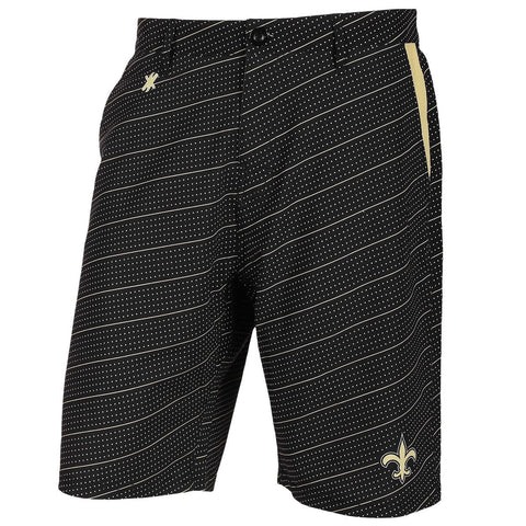New Orleans Saints Official NFL Dots Walking Shorts with Pockets Button and Zipper