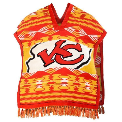 Kansas City Chiefs Official NFL Football Team Logo Unisex Poncho