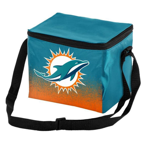 Miami Dolphins Official NFL Gradient 6 Pack Cooler Tote