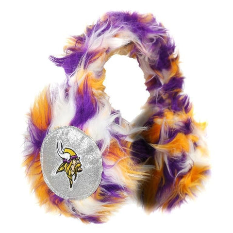 Minnesota Vikings NFL Oversized Plush Warm Winter Earmuffs
