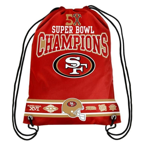 San Francisco 49ers NFL Super Bowl Commemorative Drawstring Backpack