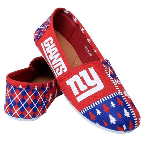 New York Giants Women's Official NFL Ugly Canvas Shoes