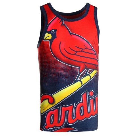 St. Louis Cardinals Official MLB Big Logo Mens Tank Top