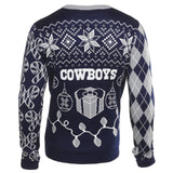 Dallas Cowboys Official NFL Christmas Tree & Ornament Ugly Sweater