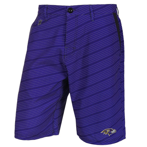 Baltimore Ravens Official NFL Dots Walking Shorts with Pockets Button and Zipper
