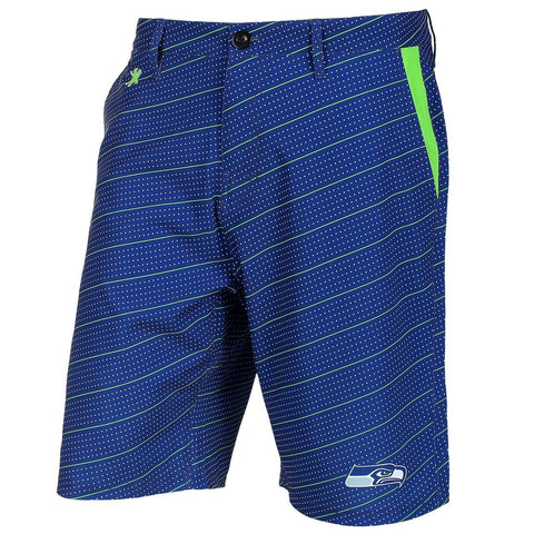 Seattle Seahawks Official NFL Dots Walking Shorts with Pockets Button and Zipper