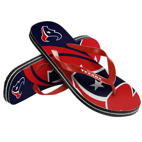 Houston Texans Official NFL Unisex Thong Flip Flops