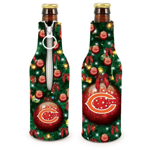 Chicago Bears NFL Christmas Holiday Bottle Suit Coolers - 2Pack