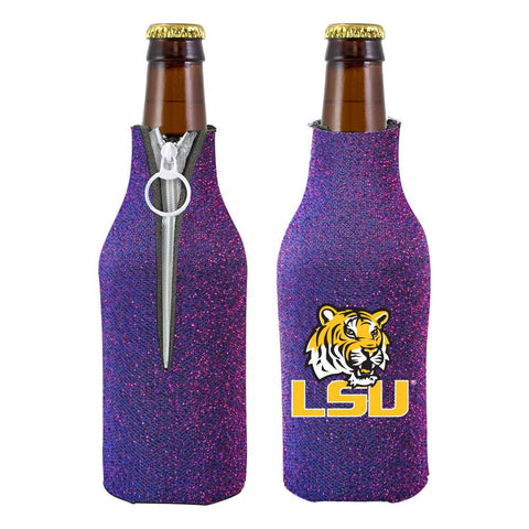 LSU Tigers NCAA Insulated Neoprene Ladies Glitter Bottle Cooler