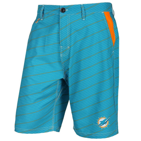Miami Dolphins Official NFL Dots Walking Shorts with Pockets Button and Zipper