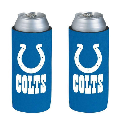 Indianapolis Colts NFL  Ultra Slim Can Drink Beer Holder 2-Pack