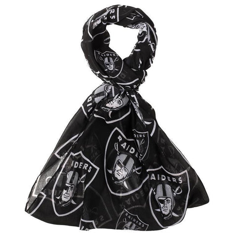 Oakland Raiders Official NFL Logo Infinity Scarf