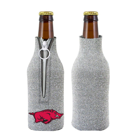Arkansas Razorbacks NCAA Insulated Neoprene Ladies Glitter Bottle Cooler