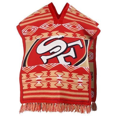 San Francisco 49ers Official NFL Football Team Logo Unisex Poncho