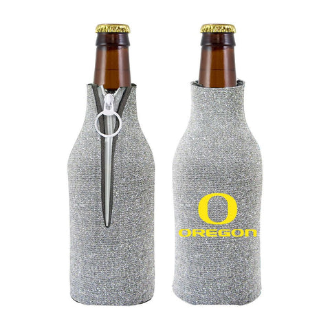 Oregon Ducks NCAA Insulated Neoprene Ladies Glitter Bottle Cooler