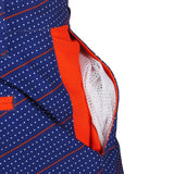 Houston Astros Official MLB Dots Walking Shorts with Pockets Button and Zipper