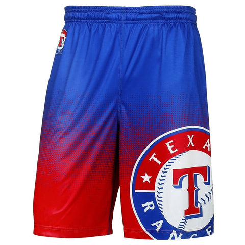 Texas Rangers Official MLB Gradient Polyester Drawstring Shorts