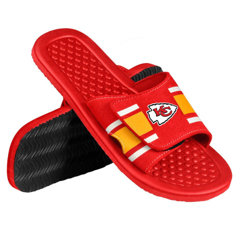 Kansas City Chiefs Official NFL Men's Shower Slide Flip Flops