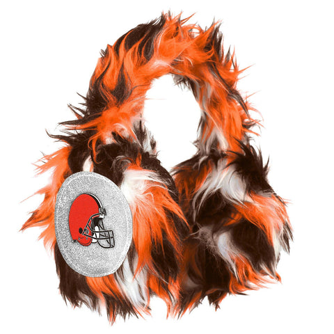 Cleveland Browns NFL Oversized Plush Warm Winter Earmuffs
