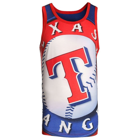 Texas Rangers Official MLB Big Logo Mens Tank Top
