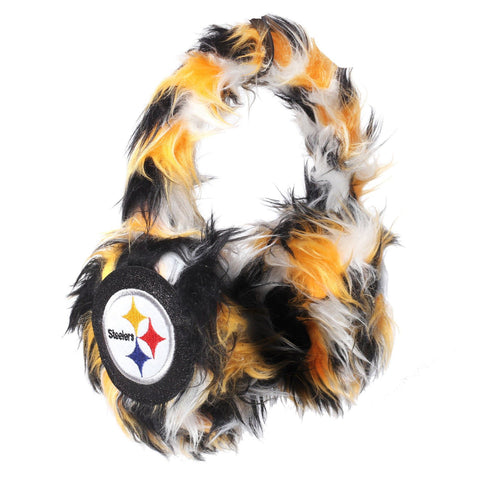 Pittsburgh Steelers NFL Oversized Plush Warm Winter Earmuffs
