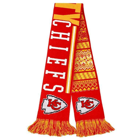 Kansas City Chiefs Official NFL Warm Winter Reversible Ugly Scarf
