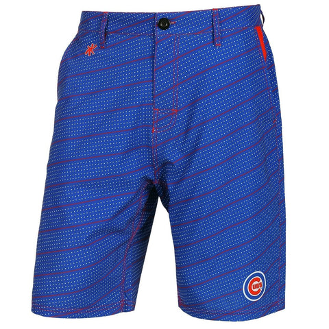Chicago Cubs Official MLB Dots Walking Shorts with Pockets Button and Zipper