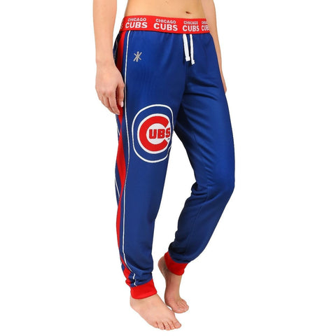 Chicago Cubs Official MLB Women's Poly Fleece Jogger Pants
