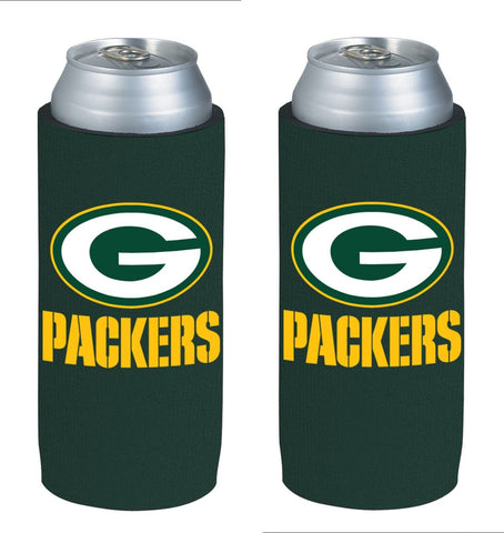 Green Bay Packers NFL  Ultra Slim Can Drink Beer Holder 2-Pack