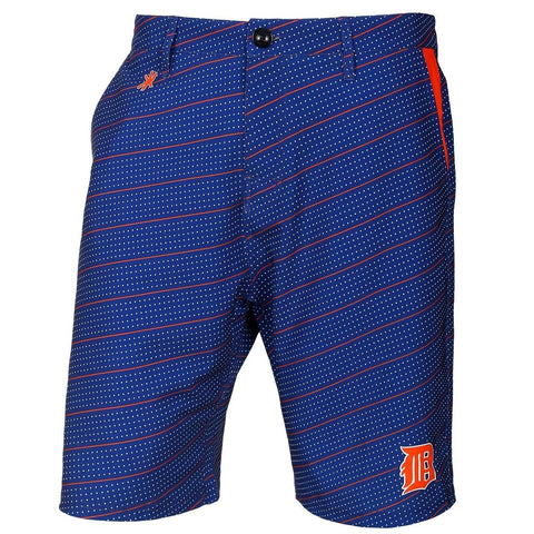 Detroit Tigers Official MLB Dots Walking Shorts with Pockets Button and Zipper