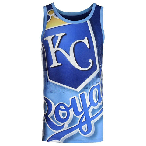 Kansas City Royals Official MLB Big Logo Mens Tank Top