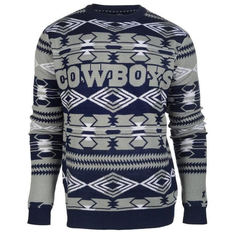 Dallas Cowboys NFL Aztec Print Crew Neck Ugly Sweater
