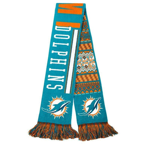 Miami Dolphins Official NFL Warm Winter Reversible Ugly Scarf