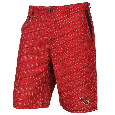Arizona Cardinals Official NFL Dots Walking Shorts with Pockets Button and Zipper