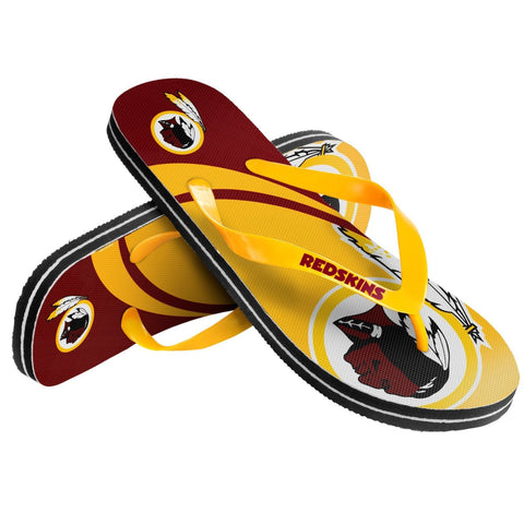Washington Redskins Official NFL Unisex Thong Flip Flops