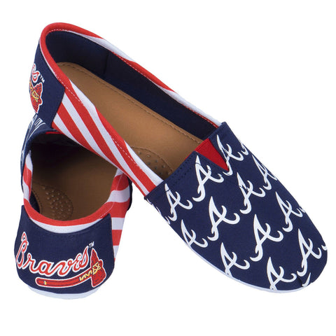 Atlanta Braves Official MLB Stripe Canvas Shoes